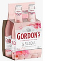 GORDONS PINK GIN AND SODA STUBBIES 4PK
