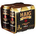 HAIG EXTRA 6.5% AND COLA CANS