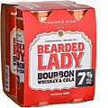 BEARDED LADY & COLA 7% 250ML CAN 4PK - PLUS 1 FREE CAN!
