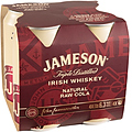 JAMESON AND RAW COLA CAN 6.3% 4PK