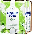 ABSOLUT LIME AND SODA CANS