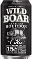 WILD BOAR BOURBON 15% + COLA CAN 4PK