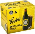 COOPERS  STOUT 750ML BTL 12PK - BUY COOPERS AND GO INTO DRAW TO WIN!