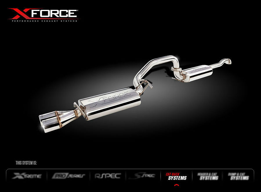 XFORCE Ford Falcon XR6 (Non-Turbo) Cat-Back With Tips Raw 409 Stainless Steel - Image 1