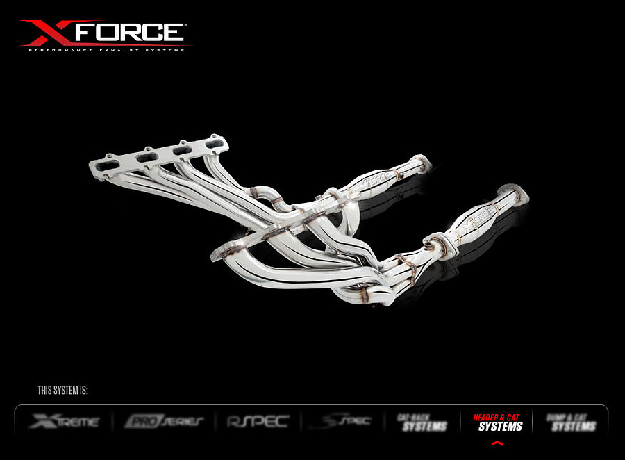 """XFORCE Ford Falcon-XR8_GT V8 S_Steel Headers and Ceramic 21_2.0"""" Cats - Image 1"""