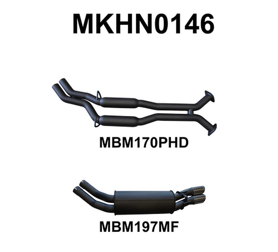 "Manta Aluminised Steel 2.5"" Dual Cat-Back (medium) for Holden Monaro V2 5.7 Litre V8 Coupe (including  HSVs) - Image 1"