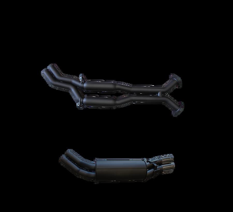 "Manta Aluminised Steel 2.5"" Dual Cat-Back (medium) for Holden Monaro V2 5.7 Litre V8 Coupe (including  HSVs) - Image 2"
