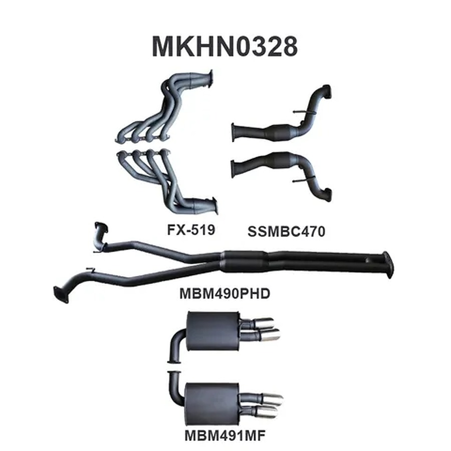 """Manta Aluminised Steel 2.5"""" Dual Full System With Extractors (medium) for Holden Commodore VF Gen-F HSV 6.2 Litre V8 Clubsport Tourer Wagon (inc. supercharged LSA models) - Image 2"""