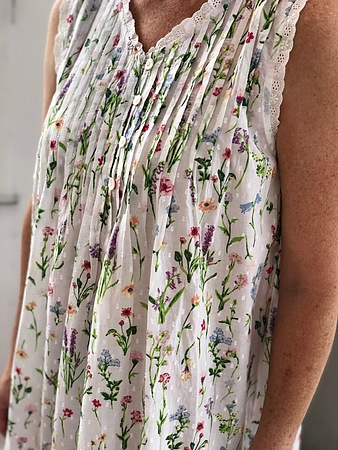 Cotton Nightie MND 777G  Cotton nightie 48 inch Garden print - Image 2