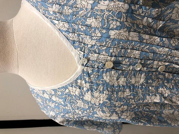 Cotton Nightie MND 778B  Cotton nightie 48 inch lotus short sleeve