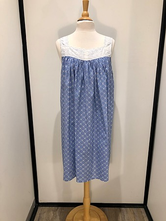 Cotton Nightie MND 779S  Cotton nightie 40 inch Shibori print - Image 2