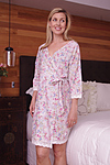 more on Cotton Dressing gown MND 693  Cotton Nightgown wrap  � 36� length