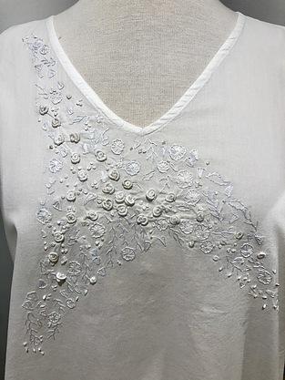 more on Cotton Nightie MND 780  Cotton nightie 48 inch White on white