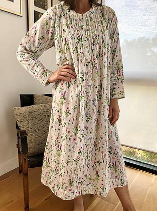 more on Cotton Nightie MND 783G Cotton nightie 48 inch Garden print long sleeve