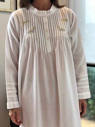 more on Cotton Nightie MND 783W Cotton nightie 48 inch Brushed Twill with Embroidery