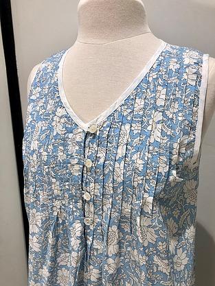 more on Cotton Nightie MND 777B  Cotton nightie 48 inch Blue lotus print