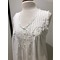 more on Cotton Nightie MND777W  Cotton nightie white sleeveless, lace trim  with embroidery