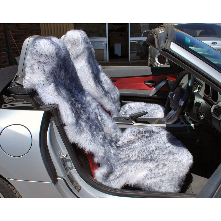 Long Wool Multi Fit Car Seat Cover - Image 2