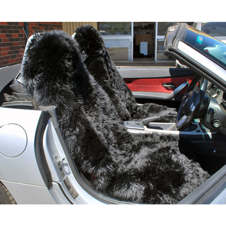 Long Wool Multi Fit Car Seat Cover - Image 3