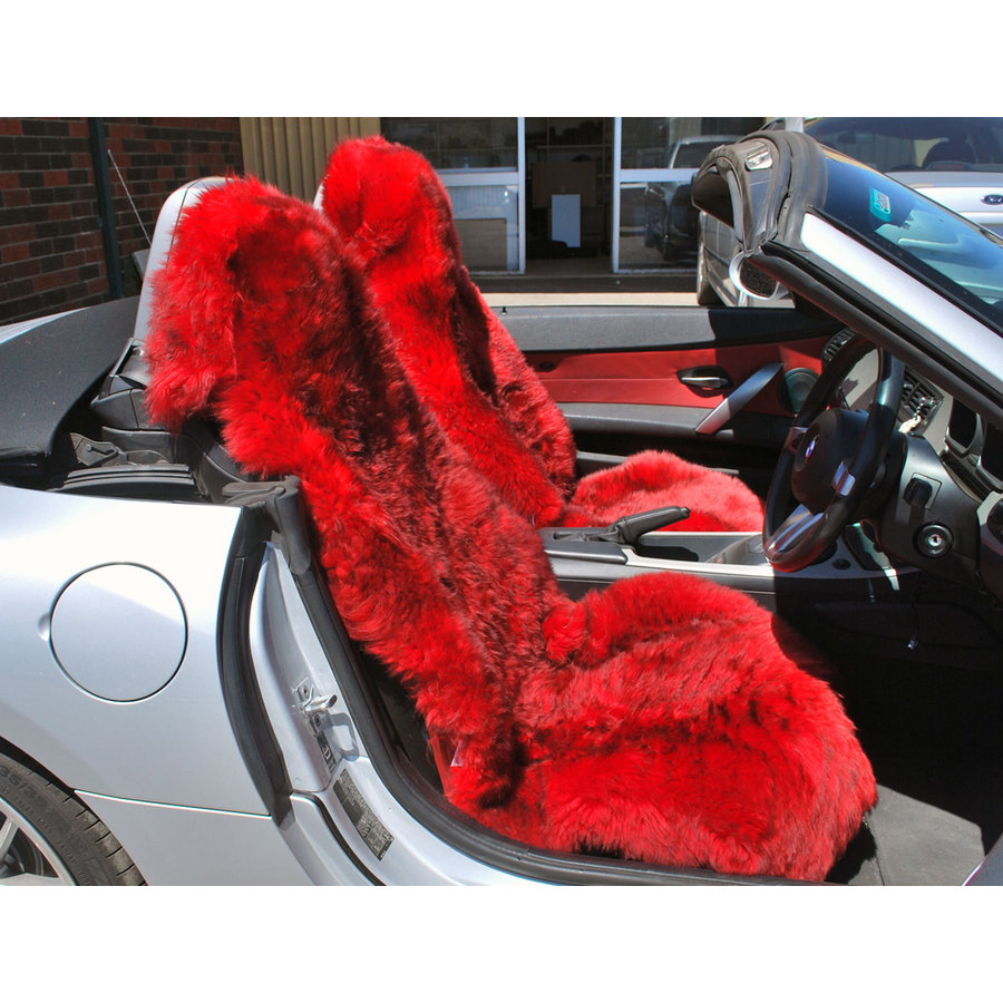 Long Wool Multi Fit Car Seat Cover - Image 1