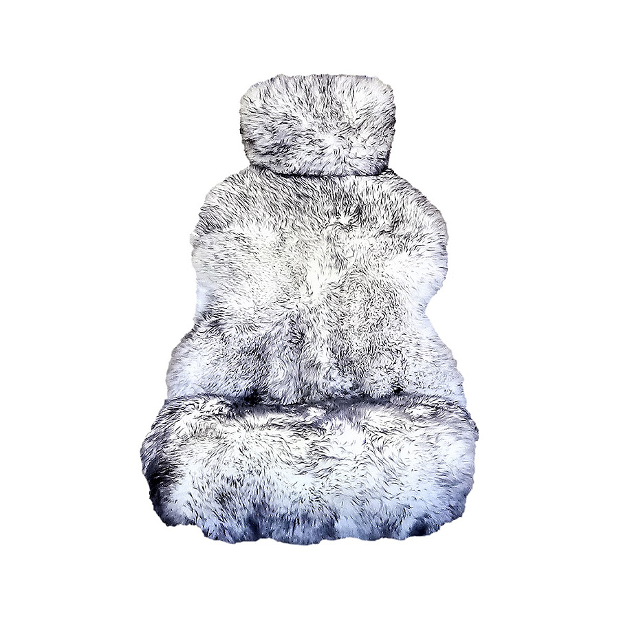 Long Wool Hooded Car Seat Cover - Image 1