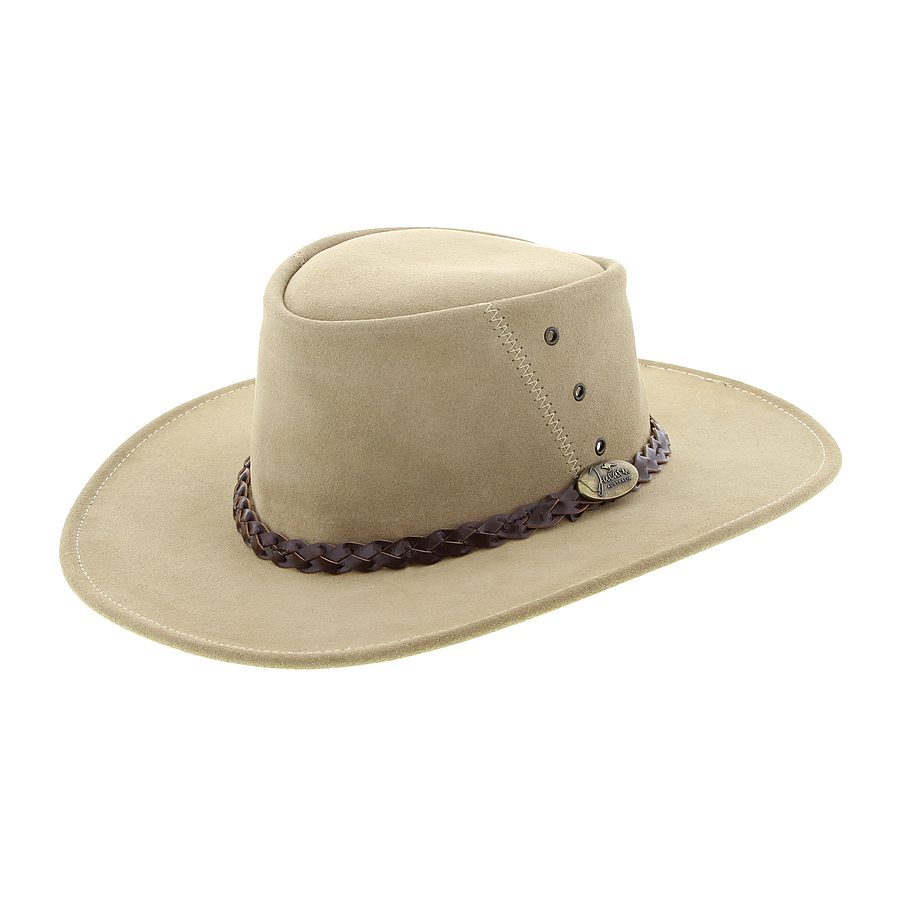 Jacaru Leather Hat Sand - Image 1