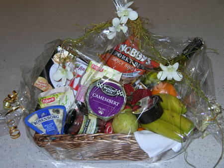 Sweet and Savoury Hamper with Wine - Image 1