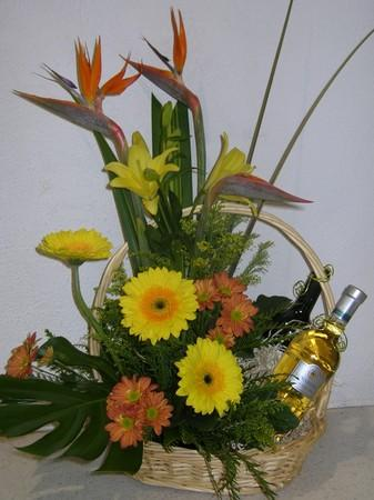 more on Basket of Flowers and Wine