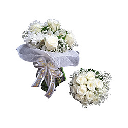 more on White Rose Gypsophila Bouquet