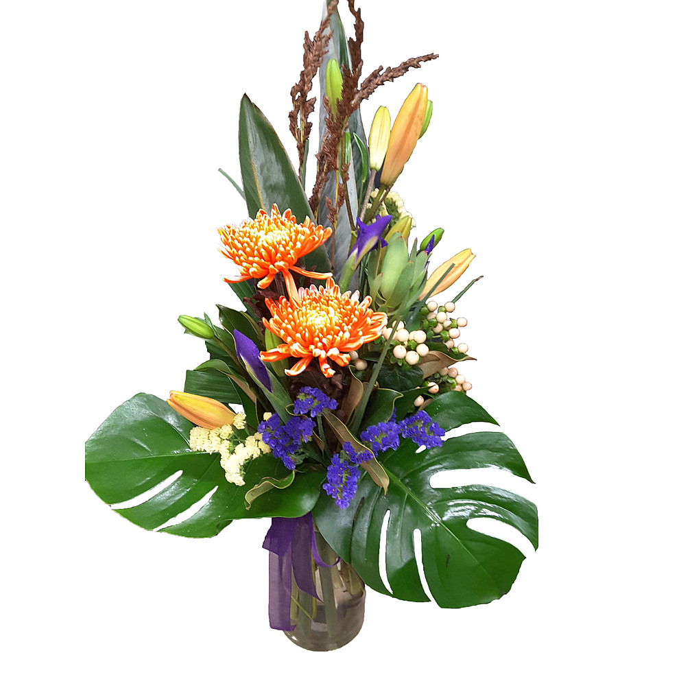 more on Tropical Vase Arrangement