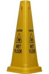 Cone Caution Sign