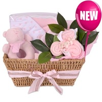 Baby Buds Pink Hamper - A Touch of Class Florist Perth