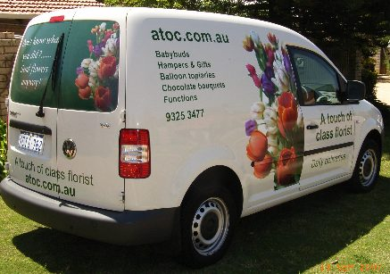 A Touch Of Class Flower Delivery Perth Van