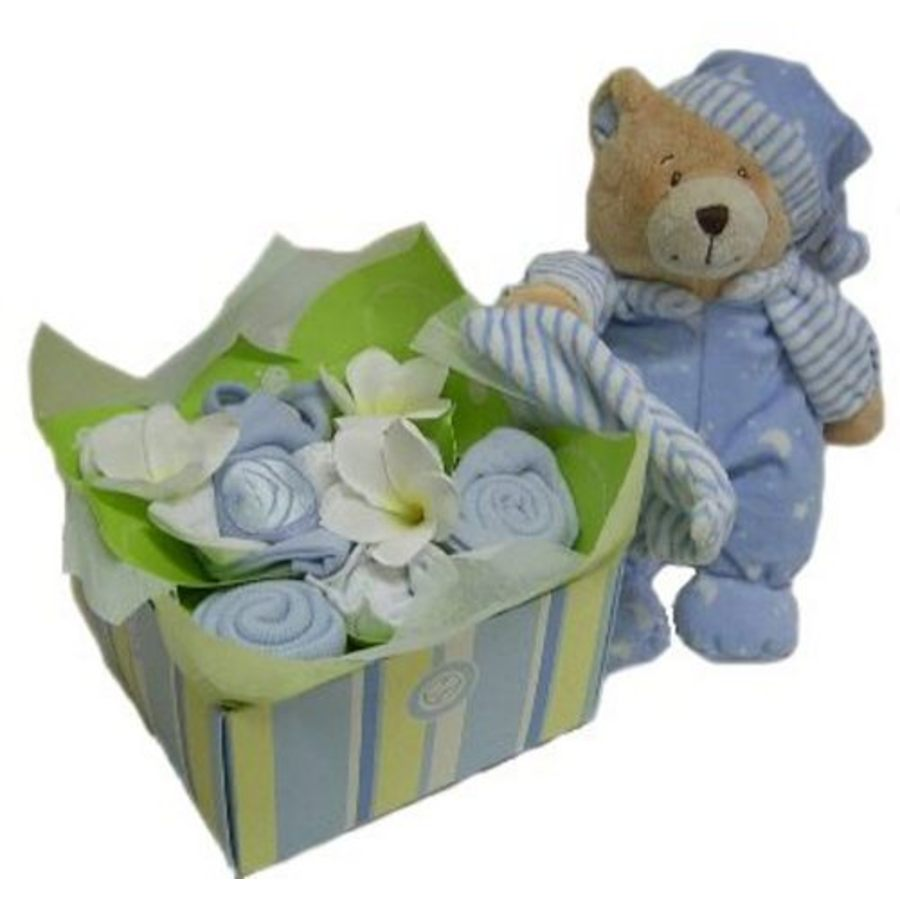 Baby Gift Hamper Perth : Blue heaven sent baby clothing with cuddles gift