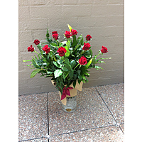 Vase Arrangement of Red Roses