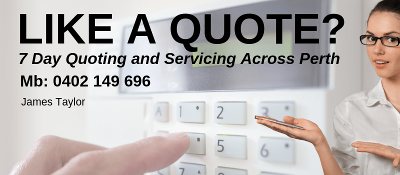 Image saying Get a Quote In Perth For Your Alarm, CCTV or Other Security Needs