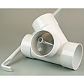 DWV Sewer Diverter 100 mm with Adjusting Rod