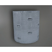 Concrete Soakwell w (ID) 1090 x h 600 mm, 559 L, Round Slots
