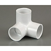 "PVC Side Outlet Plain Elbow 20mm (3/4"")"