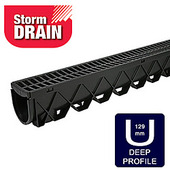 Storm Drain Corner 90 Degrees with Grate Plastic Grey