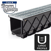 Storm Masta Corner 90D with Grate Galvanised Steel Class B