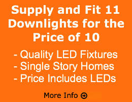 Supply and Fit 11 Downlights for the Price of 10