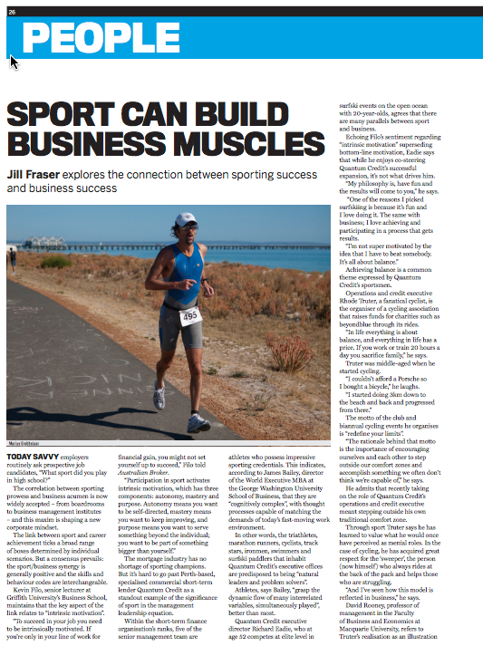 Sport Can Build Business Muscles