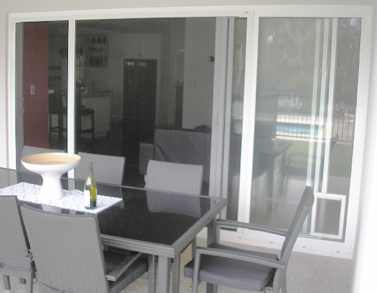 Screen on Sliding Door