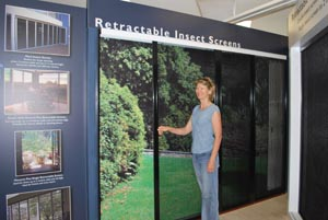Retractable Screen at Home Base Expo Wembley