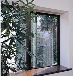 Semi-transparent pleated mesh