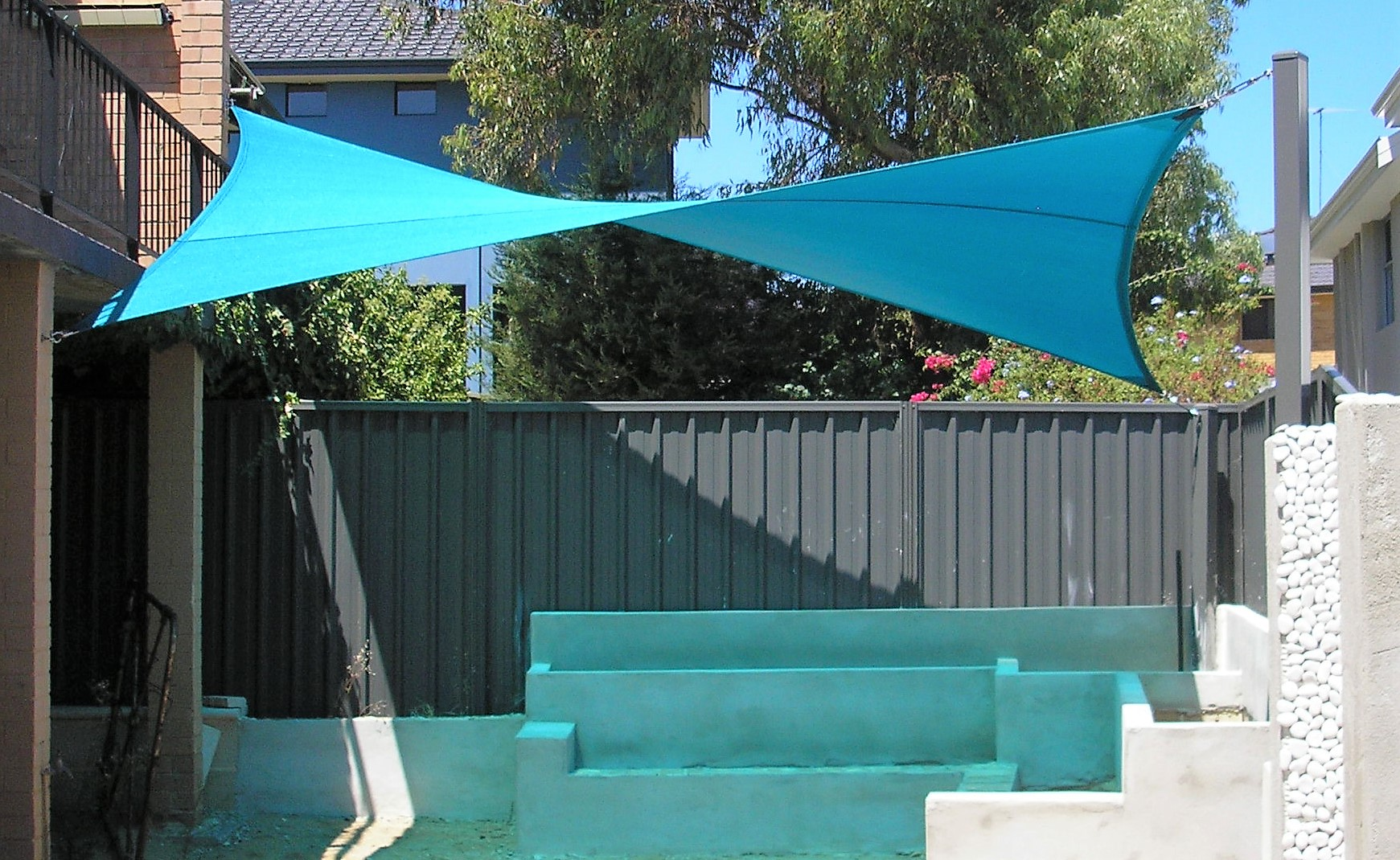 Hypar sail to provide shade to a newly renovated outdoor area