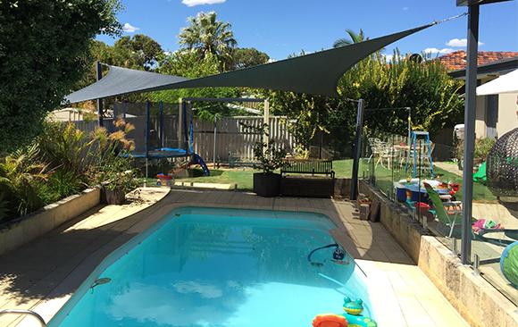 Karrinyup Shade Sail over pool