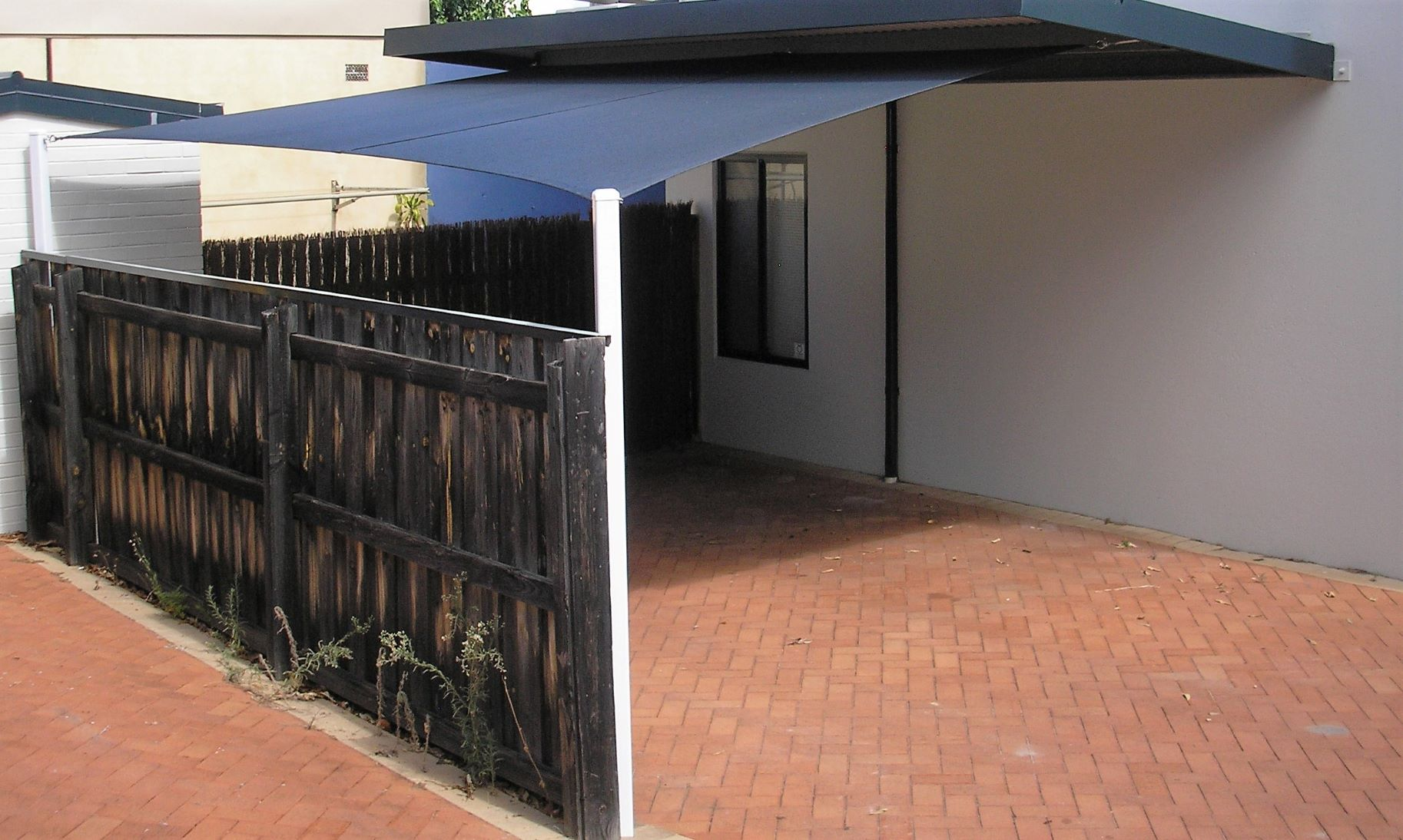 Carport Shade Sail in Commshade Slate