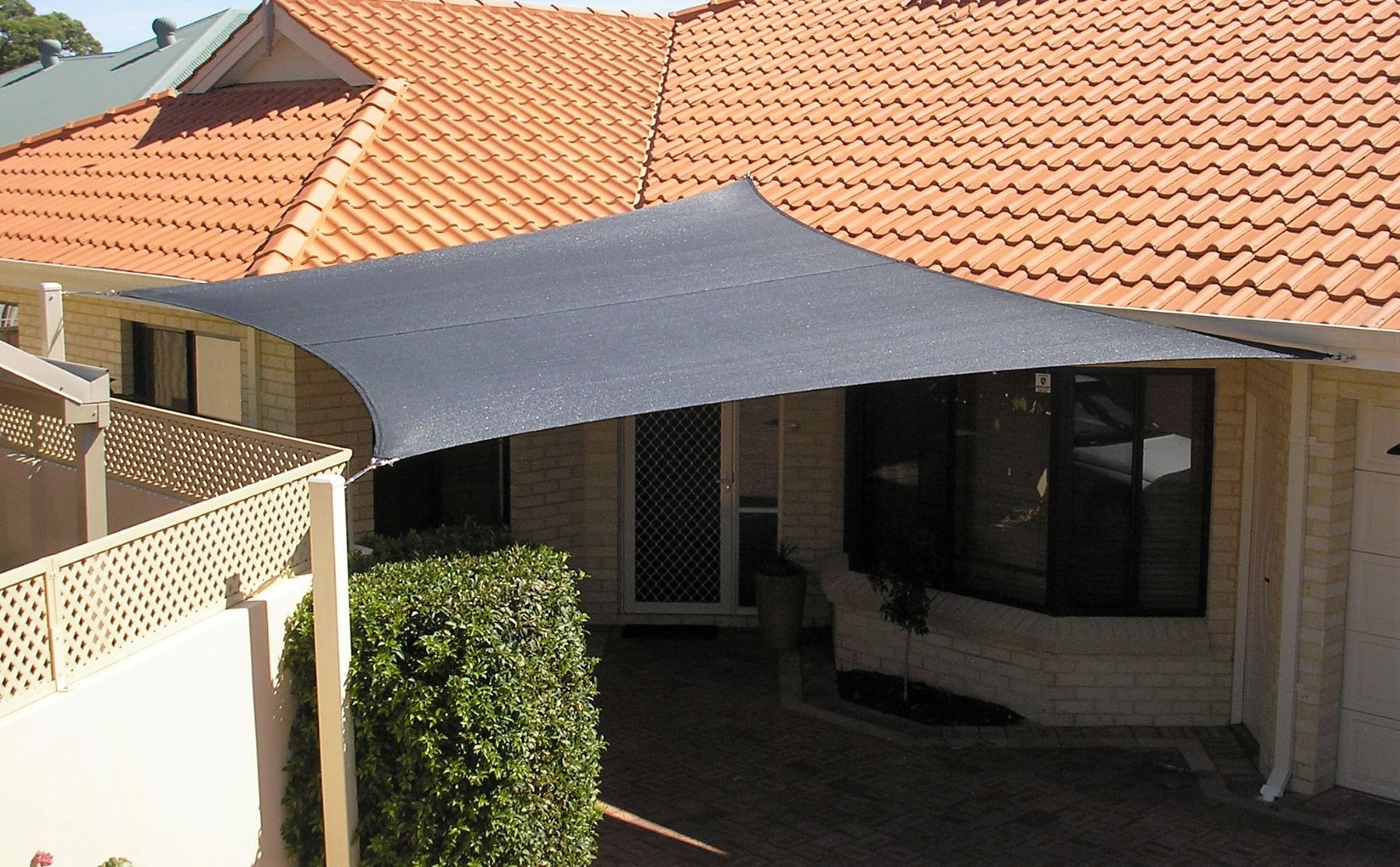 Charcoal coloured Shade Sail for South Perth